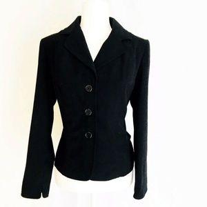 Briggs New York M Petite Blazer Black Button Jacke